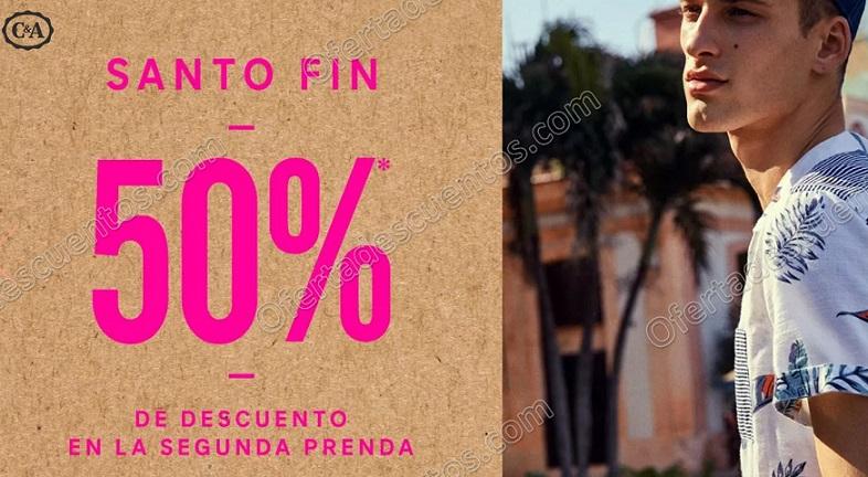 C&A: Promoción de Santo Fin de semana santa 50% de descuento en la segunda prenda