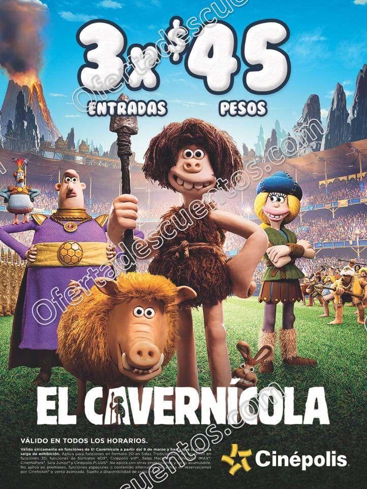 Cinépolis: 3 Entradas por $45 para ver las películas El Cavernícola o Padington 2