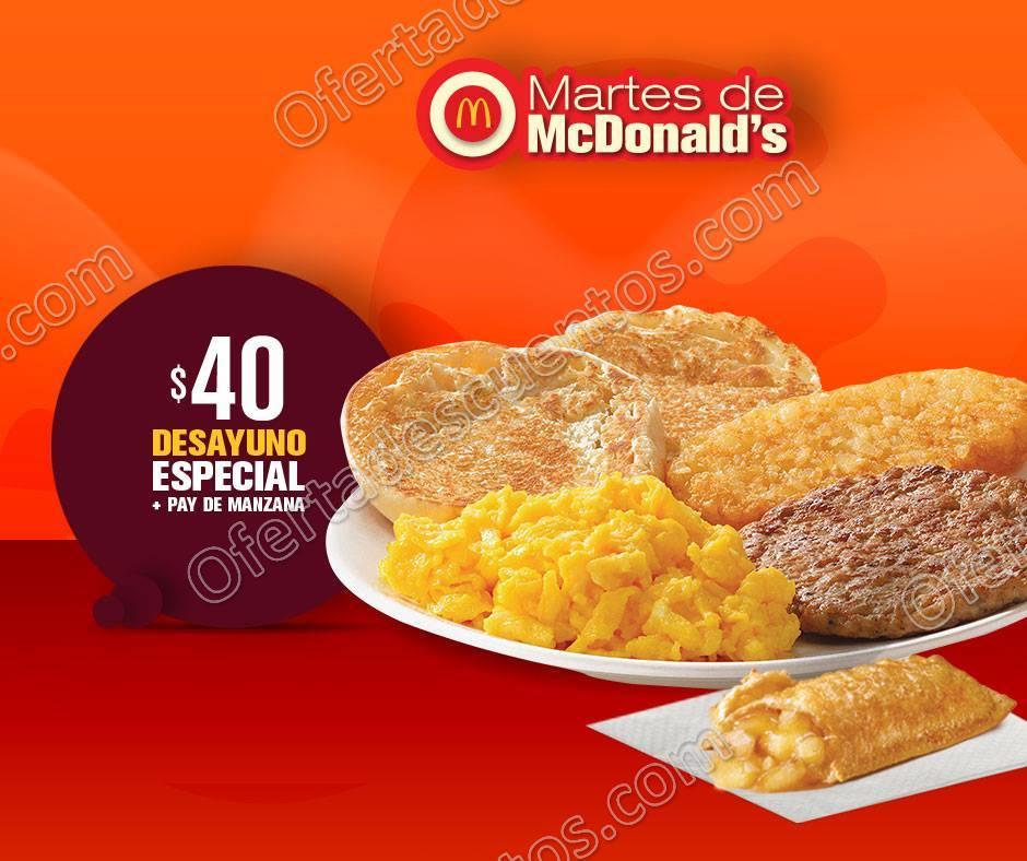 Cupones Martes de McDonald's 6 de Marzo 2018