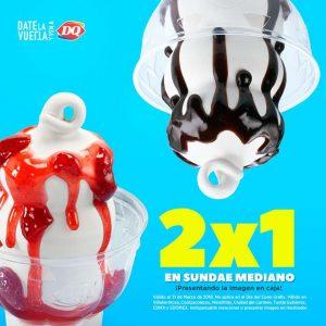 Dairy Queen: 2×1 en Sundae mediano hasta el 31 de Marzo 2018