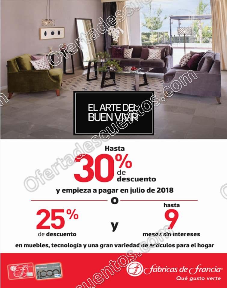El Arte del Buen Vivir Fábricas Francia 2018: hasta 30% de descuento en muebles y más