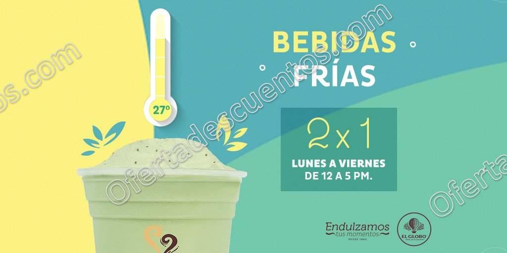 El Globo: 3×2 en bebidas frías de 12:00 a 5:00 pm de lunes a viernes