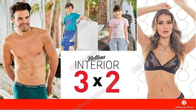 Fábricas Francia: 3×2 en ropa interior para toda Familia del 2 al 19 de Marzo 2018