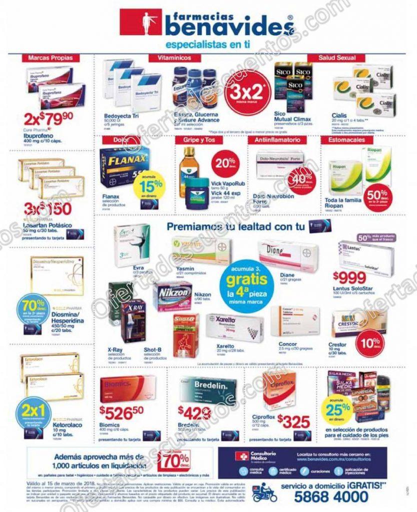 Farmacias Benavides: Promociones del 12 al 15 de Marzo 2018