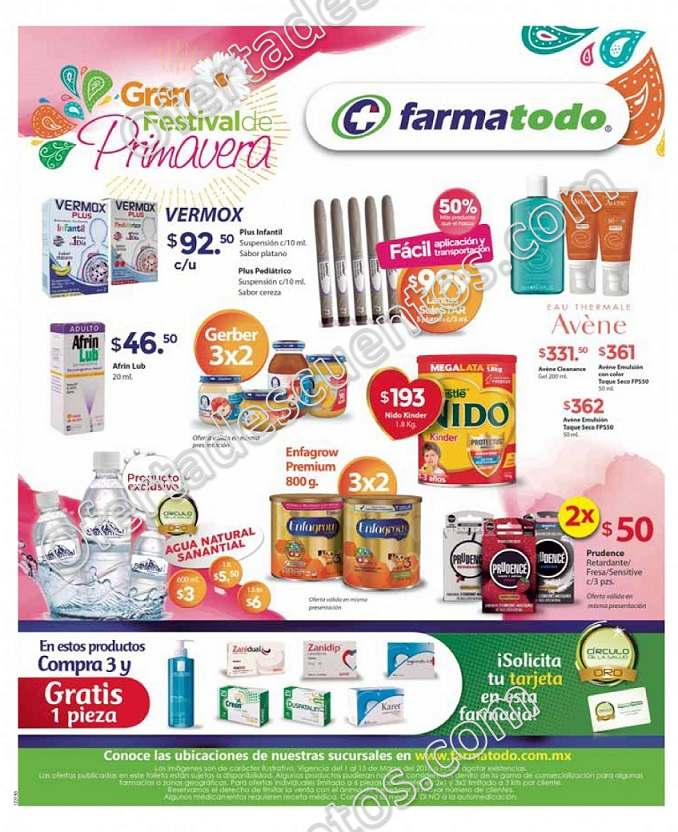 Farmatodo: Promociones de Primavera 3×2 en Enfagrow Premium y más al 15 de Marzo
