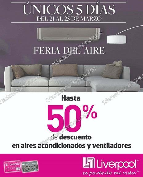 Feria del Aire Liverpool 2018: Hasta 50% de descuento en Aires Acondicionados y Ventiladores
