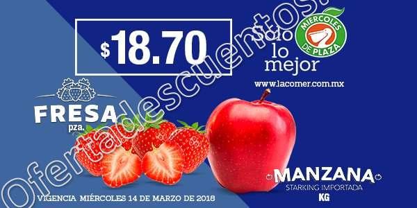 La Comer: Frutas y Verduras Miércoles de Plaza 14 de Marzo 2018