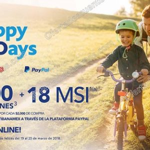 Happy Days 2018 en Best Buy: $200 en cupones por cada $2,000 de compra con Citibanamex PayPal