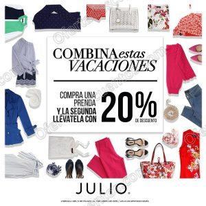 Julio: Promoción de primavera 20% de descuento en la segunda prenda