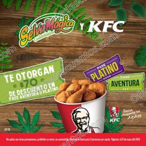 KFC: Por cada $100 de compra recibe un boleto con $70 de descuento para Selva Mágica Guadalajara