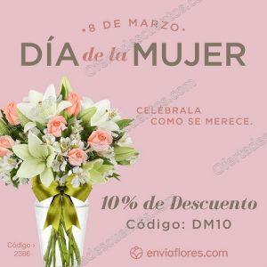 Promoción Día de la Mujer Envía Flores: 10% de descuento en arreglos