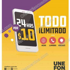 Promoción Unefon Ilimitado: Recarga desde $10 y obtén Megas, Mensajes, Llamadas y Redes Sociales ilimitadas