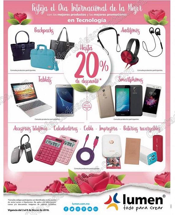 Lumen: Descuentos del Día de la Mujer Hasta 20% de descuento en tecnología, Smartphones y más