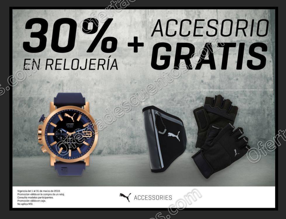 Puma: 30% de descuento en Relojería más Accesorio Gratis Marzo 2018