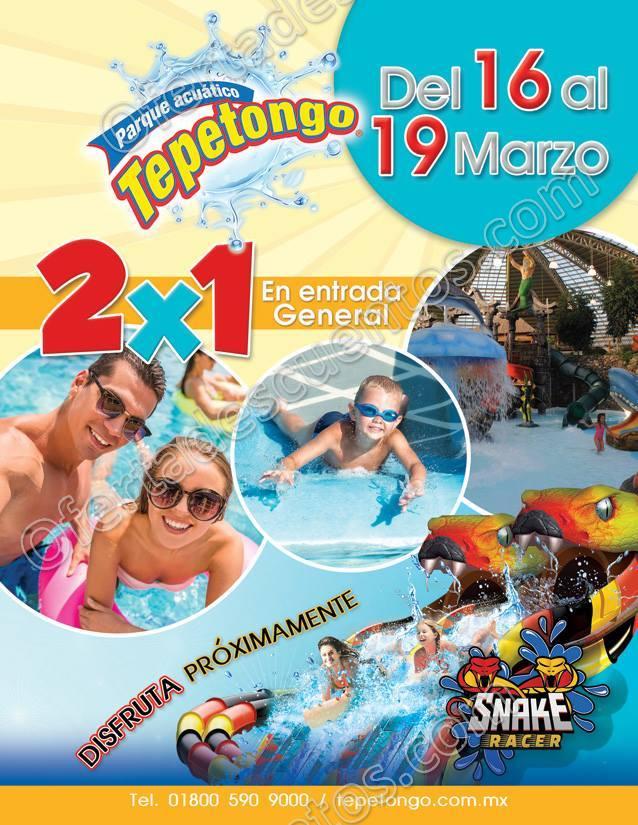 Parque Acuático Tepetongo: Entradas al 2×1 del 16 al 19 de Marzo 2018