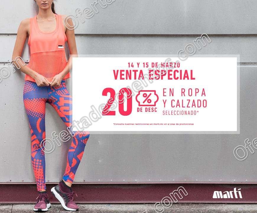 Venta Especial Martí 14 y 15 de Marzo: 20% de descuento en ropa y calzado