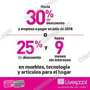 Viva Bonito Liverpool: Hasta 30% de descuento en Muebles, Tecnología y Hogar