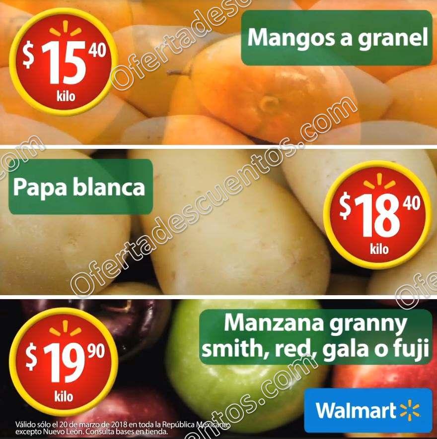 Walmart: Martes de Frescura 27 de Marzo 2018