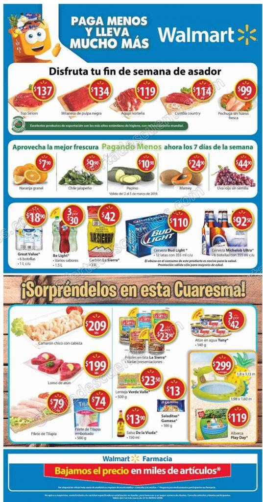 Walmart: Promociones de Fin de Semana de Asador del 2 al 4 de Marzo 2018