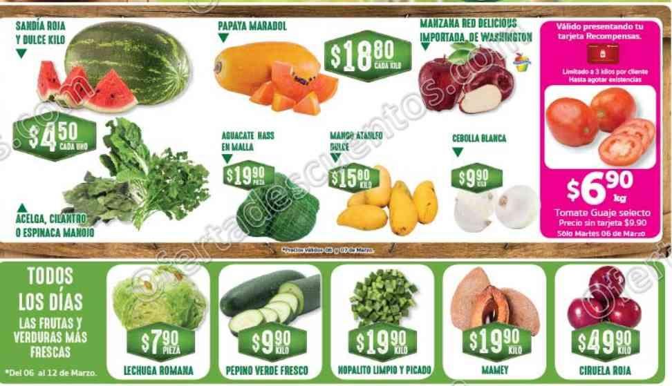 Frutas y Verduras Soriana 6 y 7 de Marzo 2018