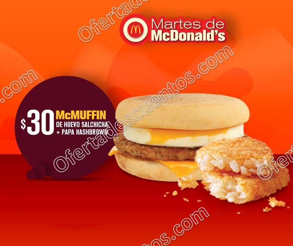 Cupones Martes de McDonald's 13 de Marzo 2018