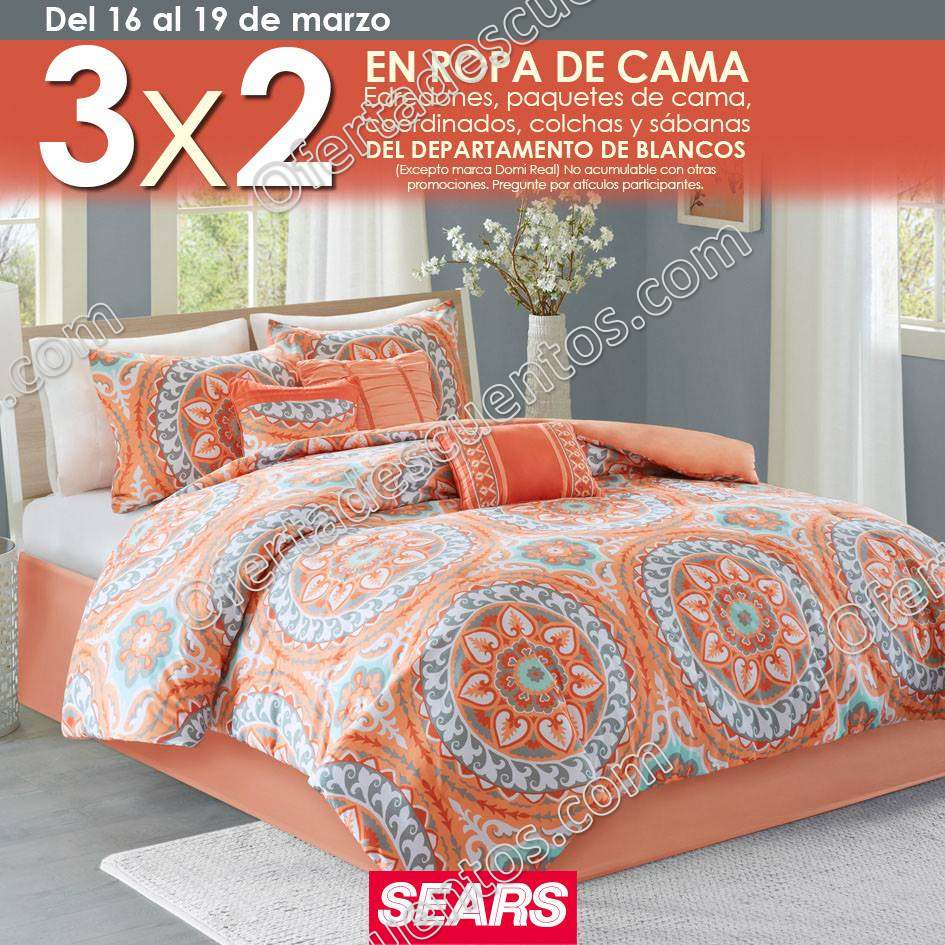 Sears: 3×2 en Ropa de Cama