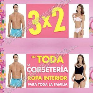 Suburbia: 3×2 en toda la corsetería y ropa interior para toda la familia del 18 al 23 de abril