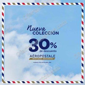 Aeropostale: 30% de descuento en nueva colección del 19 al 22 de abril