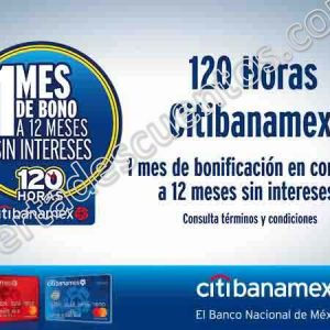 120 Horas Citibanamex 2018 Amazon: 1 mes de bonificación más 12 meses sin intereses