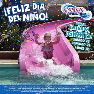 Aquatico Inbursa: Niños entran gratis del 28 al 30 de Abril 2018