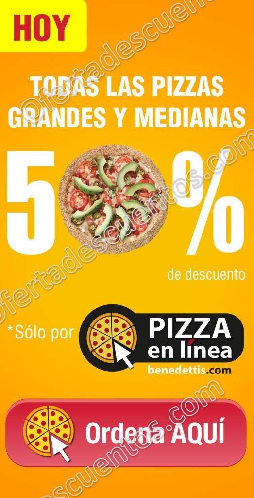 Benedettis: Pizzas medianas y grandes con 50% de descuento
