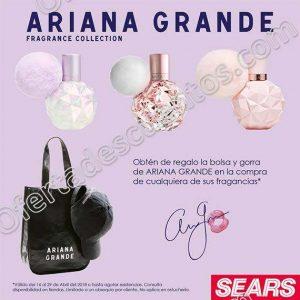 Sears: Bolsa y gorra de Ariana Grande de regalo al comprar cualquiera de sus Fragancias