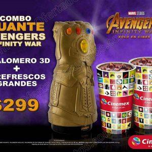Cinemex: Combo Guante Palomero Avengers Infinity War