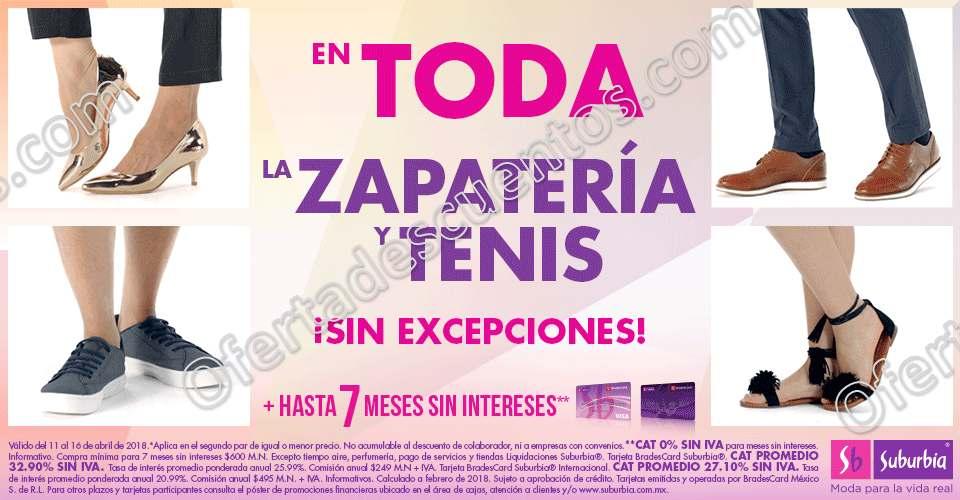 Suburbia: 50% de descuento en segundo par en Zapatería y Tenis