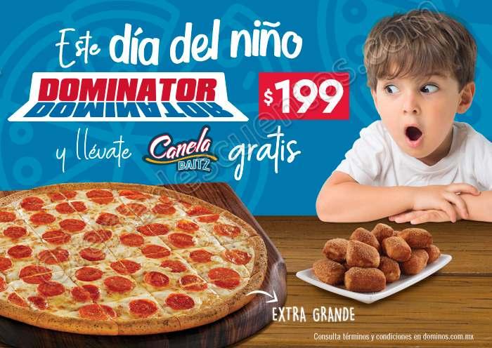 Domino's: Pizza Dominator Extra grande a $199 más Canela Baitz Gratis