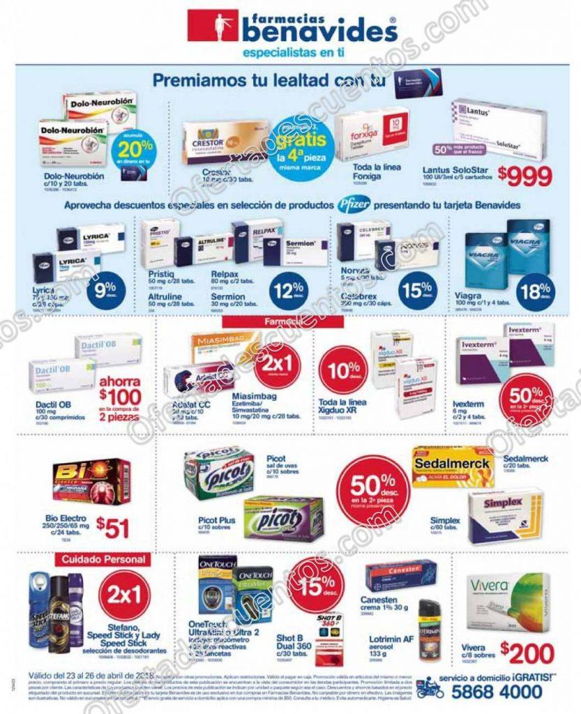 Farmacias Benavides: Promociones Semanales del 23 al 26 de Abril