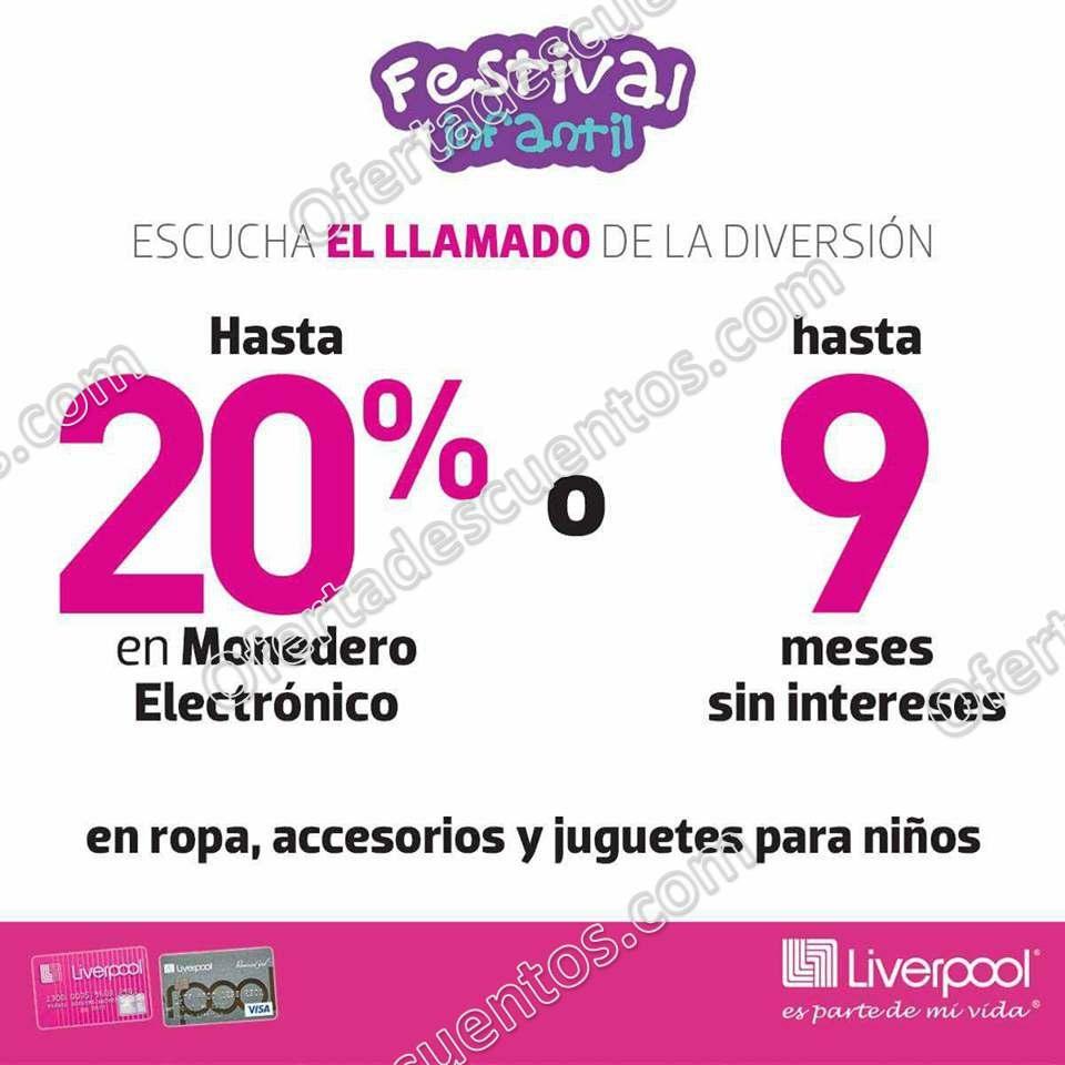 Festival Infantil Liverpool 2018: Hasta 20% en monedero en Ropa, Juguetes y Accesorios