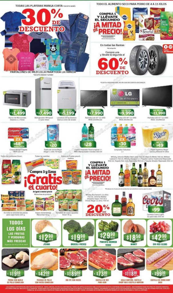 Soriana: Promociones de Fin de Semana del 6 al 9 de Abril 2018