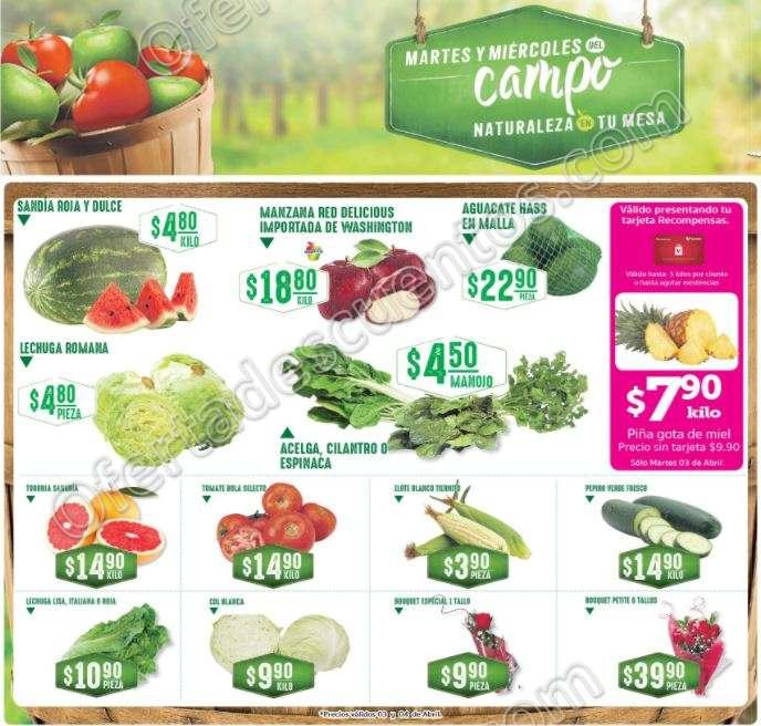 Frutas y Verduras Soriana 3 y 4 de Abril 2018
