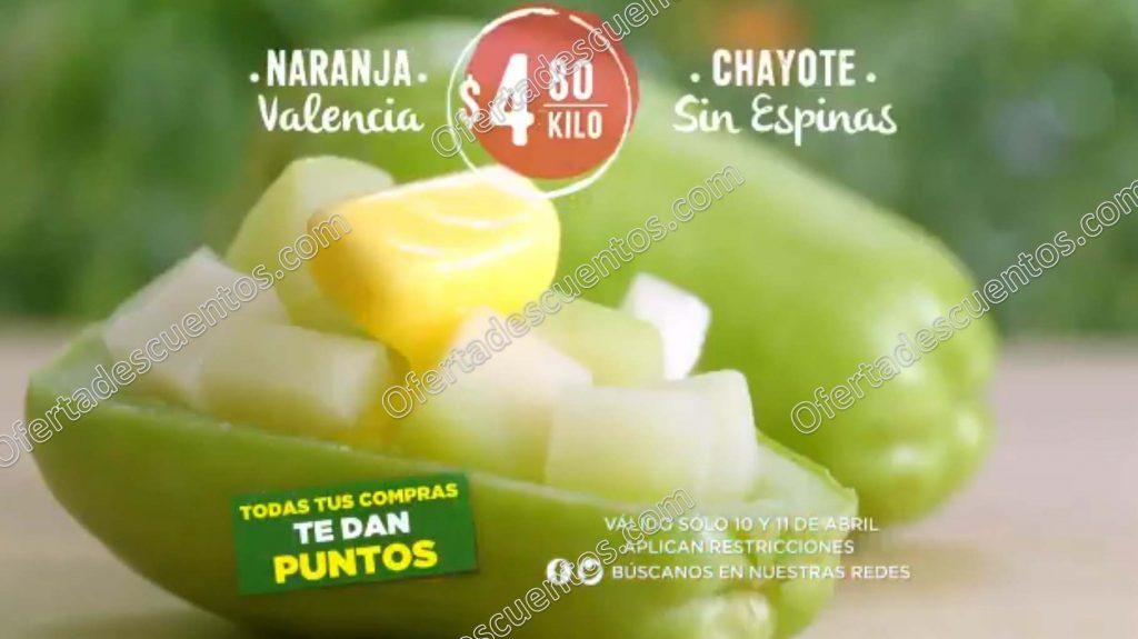 Frutas y Verduras Martes y Miércoles del Campo Comercial Mexicana y Mega 10 y 11 de abril 2018