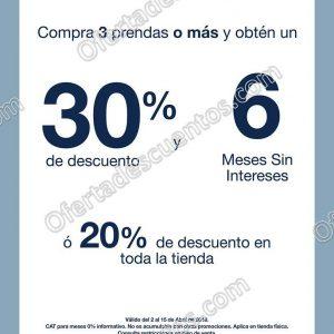 GAP: 30% de descuento en la compra de 3 prendas o más y 6 meses sin intereses