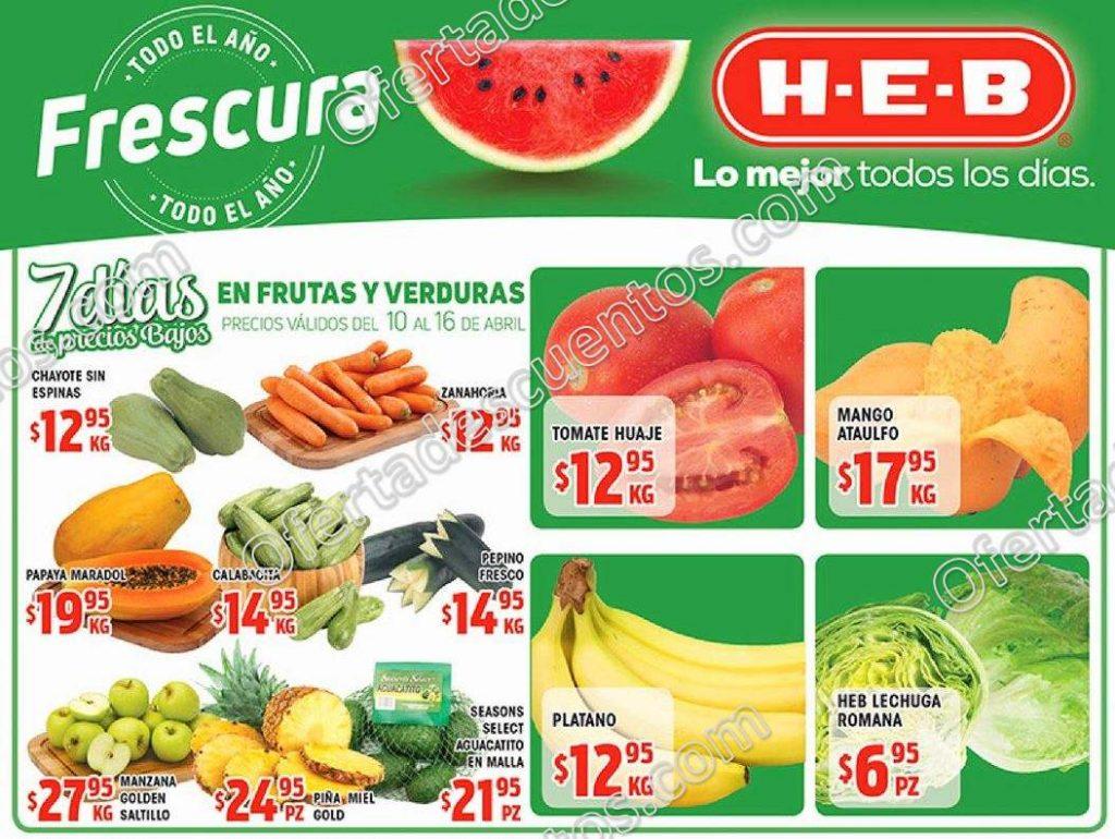 HEB: 7 Días de Frutas y Verduras del 10 al 16 de abril 2018