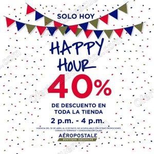 Aéropostale: Happy Hour 40% de descuento en toda la tienda de 2 a 4 pm