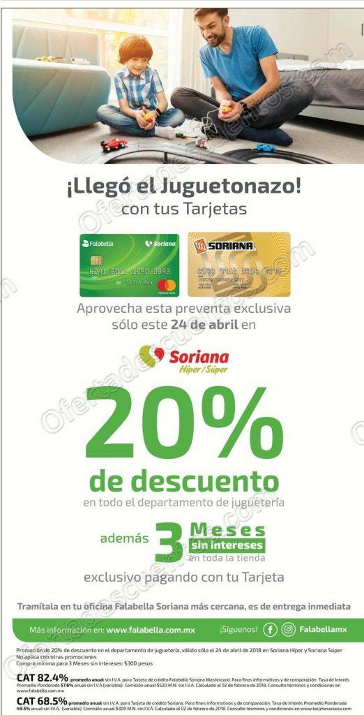 Soriana: 20% de descuento en toda la juguetería con tus Tarjetas Soriana