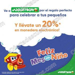 Juguetrón: 20% de bonificación en tus compras por el Día del Niño