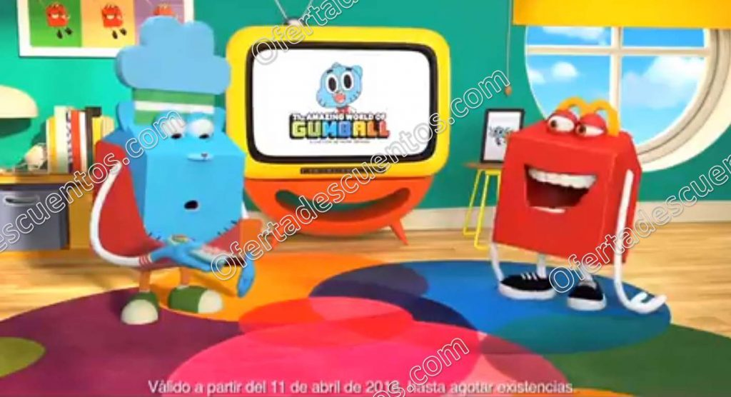 Nueva Cajita Feliz de McDonald's: Gratis Juguetes del Increíble Mundo de Gumball