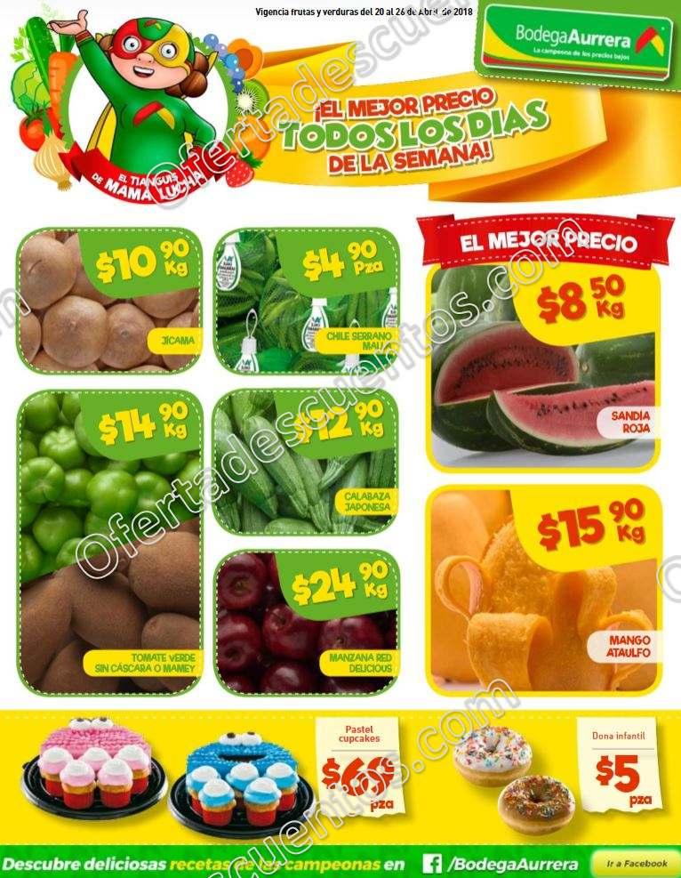 Bodega Aurerá: Ofertas Frutas y Verduras Tiánguis de Mamá Lucha del 20 al 26 de abril 2018
