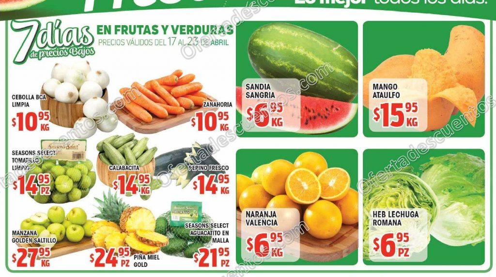HEB: 7 Días de ofertas en frutas y verduras del 17 al 23 de Abril 2018