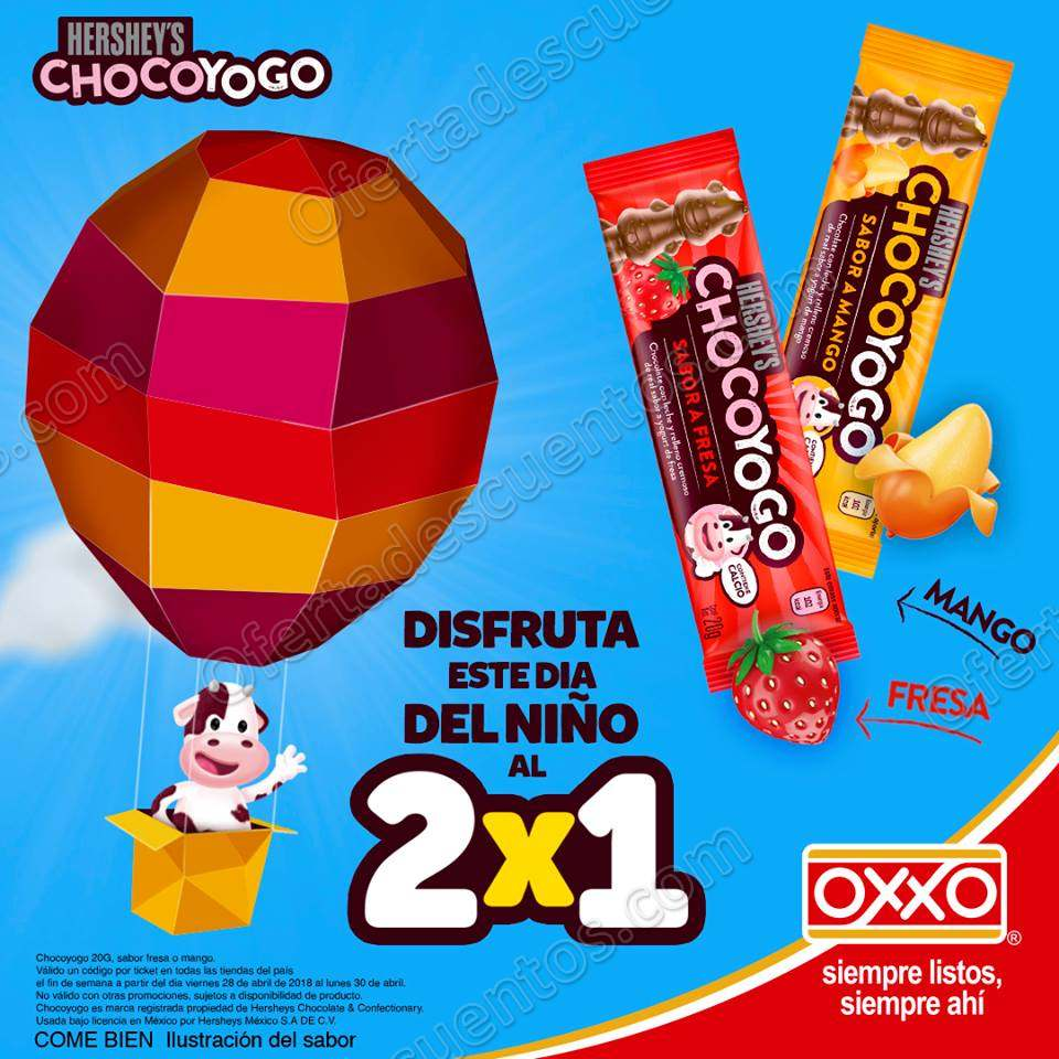 Oxxo: 2×1 en Hersehy's Choco Yogo
