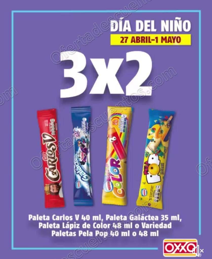 Oxxo: 3×2 en Paletas de hielo y 2×1 en chocolates y dulces